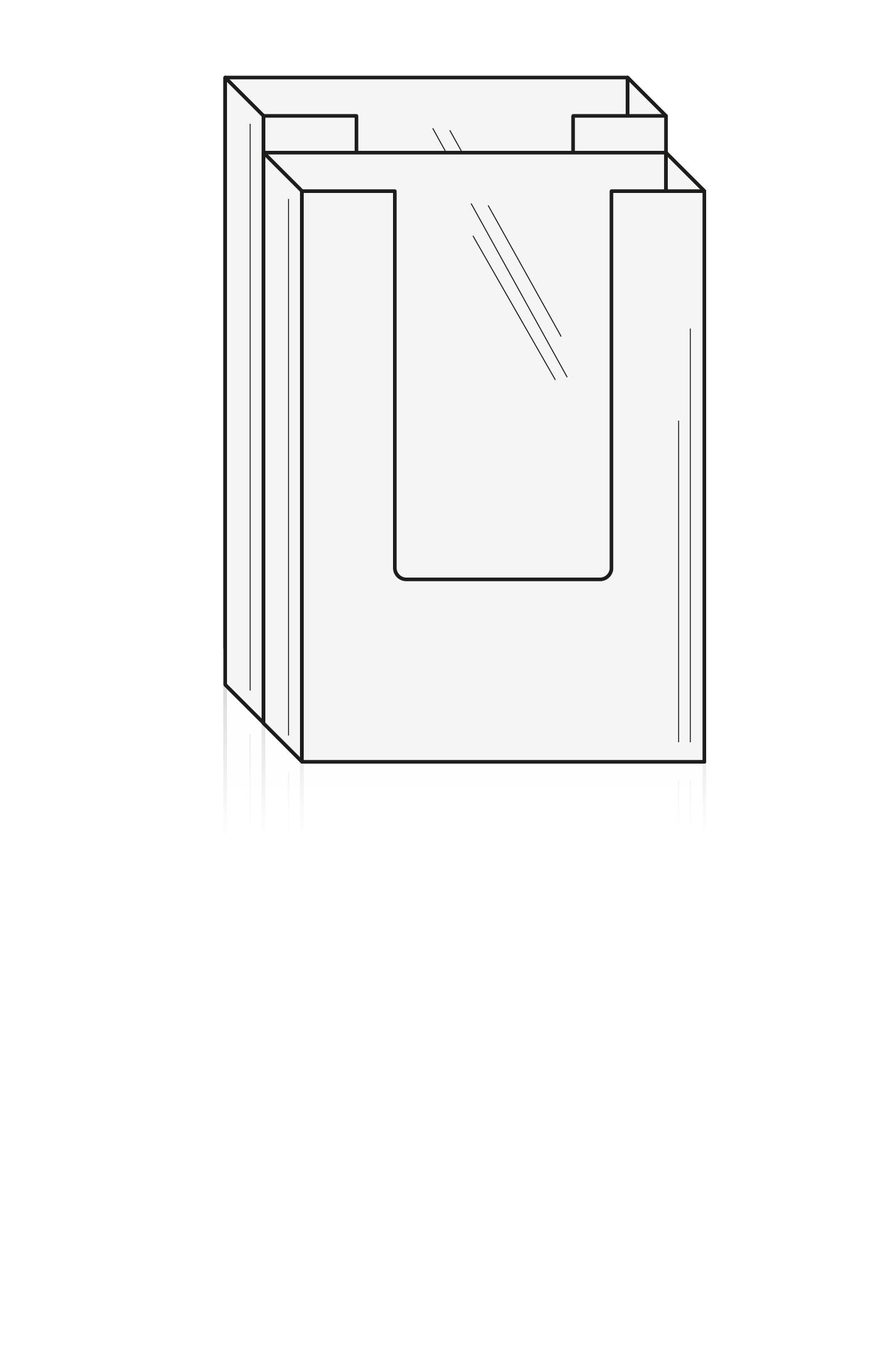 Brochureholder A5 - 2 rums