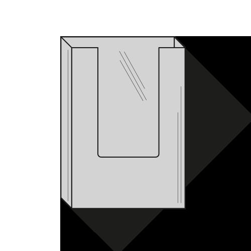 Brochureholder A5 - 1 rums