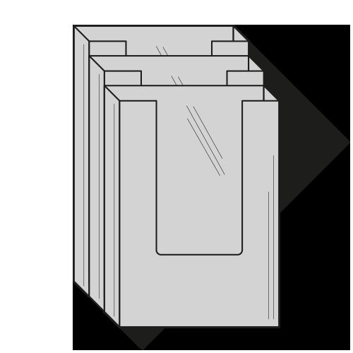 Brochureholder A5 - 4 rums