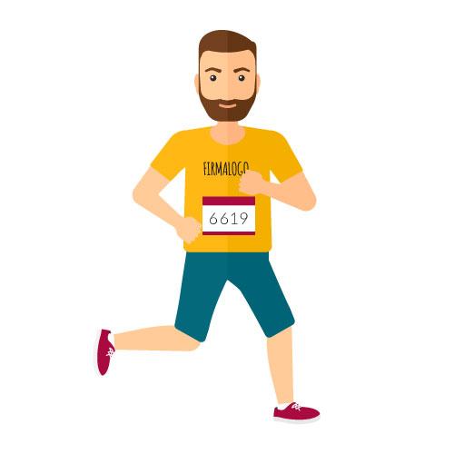 Løbe T-shirt